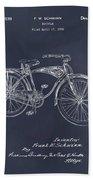 1939 Schwinn Bicycle Blackboard Patent Print Bath Towel