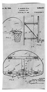 1944 Basketball Goal Gray Patent Print Bath Towel