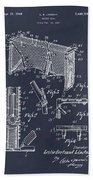 1947 Hockey Goal Patent Print Blackboard Bath Towel