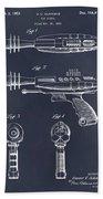 1953 Ray Gun Toy Pistol Blackboard Patent Print Bath Towel