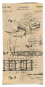 1960 Bombardier Snowmobile Antique Paper Patent Print Bath Towel