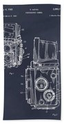 1960 Rolleiflex Photographic Camera Blackboard Patent Print Bath Towel
