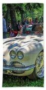 1961 Chevrolet Corvette 002 Bath Towel