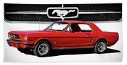 1965 Mustang 289 Coupe Bath Towel
