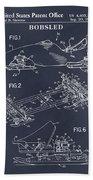 1982 Bobsled Blackboard Patent Print Bath Towel