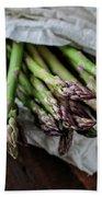 Fresh Green Asparagus Hand Towel