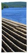 New Croton Dam At Croton On Hudson New York Bath Towel