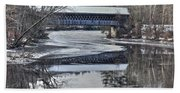 New England College Covered Bridge Bath Towel