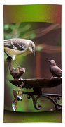 Northern Mockingbird Bath Towel by Robert L Jackson