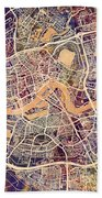 Rotterdam Netherlands City Map Bath Towel