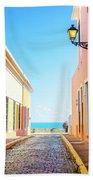 Streets Of San Juan - Puerto Rico Hand Towel