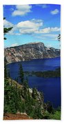 Crater Lake Oregon Bath Towel