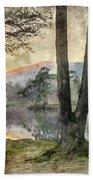 Digital Watercolor Painting Of Beautiful Landscape Image Of Tarn Bath Towel