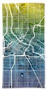Minneapolis Minnesota City Map Bath Towel
