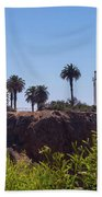 Point Vicente Lighthouse Bath Towel by Ed Clark