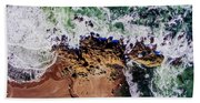 Aerial View Of The Beach, Newport Bath Towel