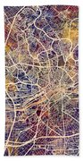 Frankfurt Germany City Map Bath Towel