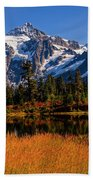 Autumn Colors With Mount Shuksan Bath Towel