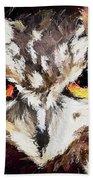 Eurasian Eagle Owl Bath Towel