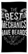 Funny Mechanic Beard Facial Hair Apparel Bath Towel