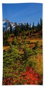 Autumn Colors With Mount Shuksan Bath Towel