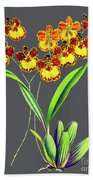 Orchid Old Print Bath Towel
