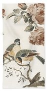 A Blue Tit And A Great Tit By Johan Teyler   1648  1709  2 Hand Towel