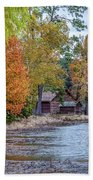 A Peaceful Place On An Autumn Day Bath Towel by James Woody