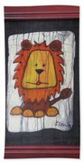 A Red Lion.  Hand Towel