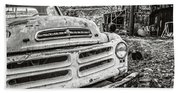Abandoned Ghost Town Studebaker Truck Hand Towel