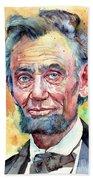 Abraham Lincoln Portrait Bath Towel