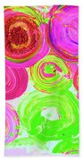Abstract Flower Crowd Bath Towel