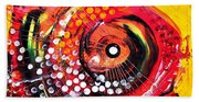 Abstract Lion Fish Bath Towel