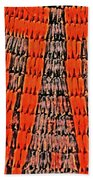 Abstract Oranges Blacks Browns Yellows Rows Columns Angles 3152019 5476 Bath Towel