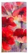 Abstract Poppies Bath Towel
