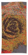 Abstract Rose 745 Bath Towel