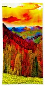 Abstract Scenic 3a Bath Towel