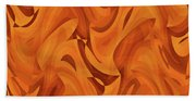 Abstract Waves Painting 001451 Bath Towel