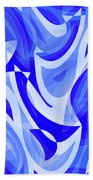 Abstract Waves Painting 007183 Bath Towel