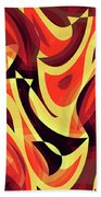 Abstract Waves Painting 007185 Bath Towel
