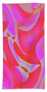 Abstract Waves Painting 007190 Hand Towel