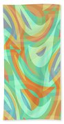 Abstract Waves Painting 007202 Bath Towel