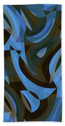 Abstract Waves Painting 007203 Bath Towel