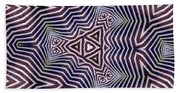 Abstract Zebra Design Bath Towel