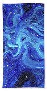 Acrylic Galaxy Painting Bath Towel