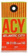 Acy Atlantic City Luggage Tag I Bath Towel