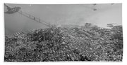 Aerial View Of Downtown San Francisco From The Air Bath Towel