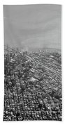 Aerial View Of Downtown San Francisco From The Air Hand Towel