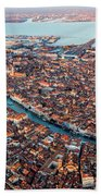 Aerial View Of Grand Canal, Venice, Italy Bath Towel