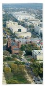 Aerial View Of Museums On The South Side Of The National Mall In Hand Towel